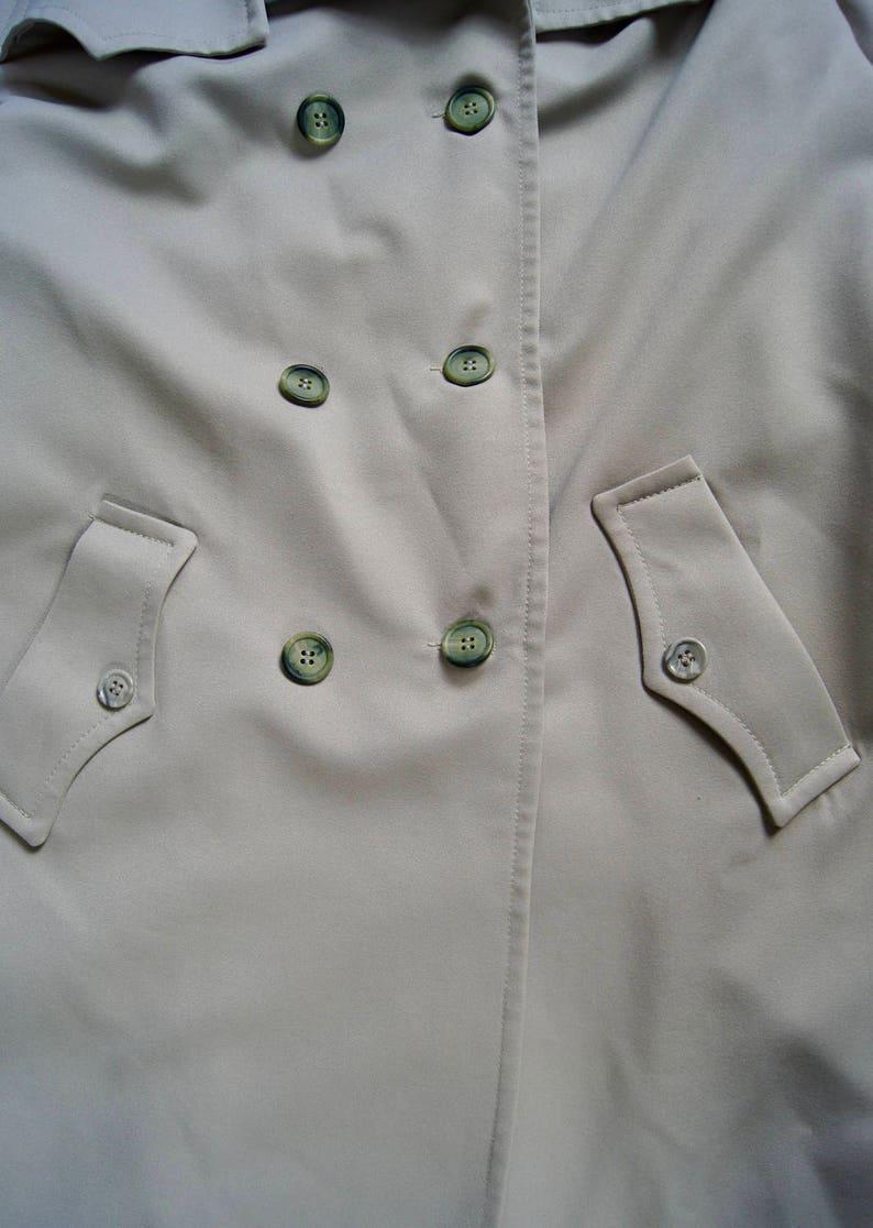 Vintage NPC Fashions Trench Coat Belted Jacket Warren Pennsylvania