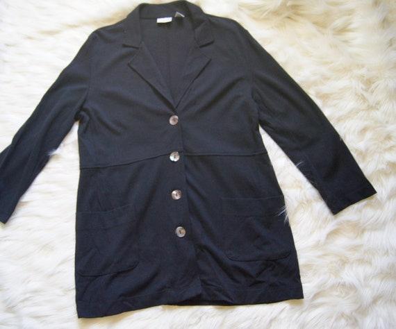 Vintage Chico/'s Women/'s Black Blazer Rayon Nylon Spandex Made in USA Size 2