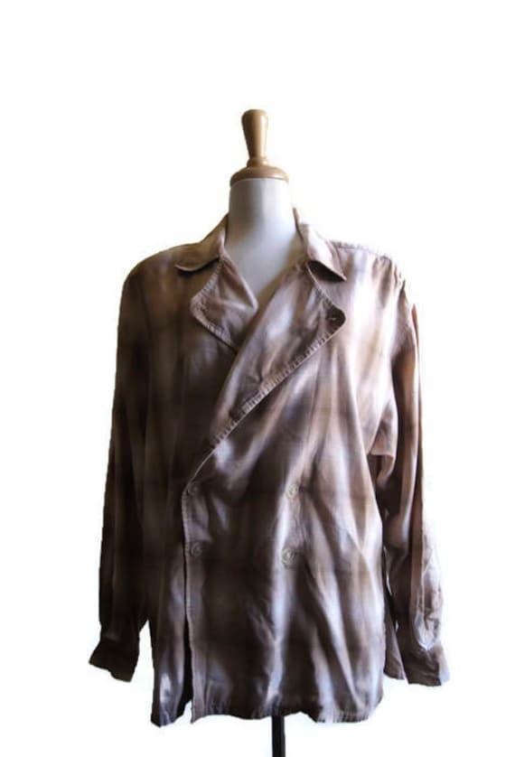 Vintage 80s Lizsport Plaid Jacket Blazer Tartan 10