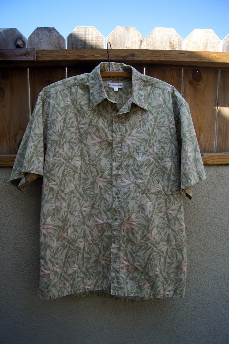 a62758895 Vintage Pierre Cardin Hawaiian Shirt Made in Korea / Green | Etsy