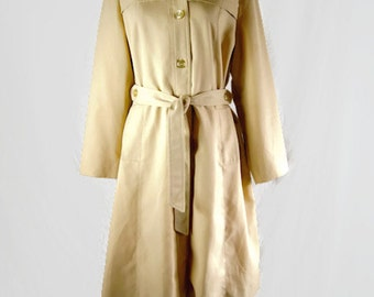 Vintage Sears Fashions Tan Ladies Trench Coat 1960s