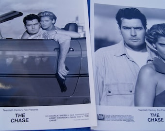 The Chase Movie Photos Charlie Sheen Kristy Swanson / 8x10 Glossy Photographs - Lot of 2
