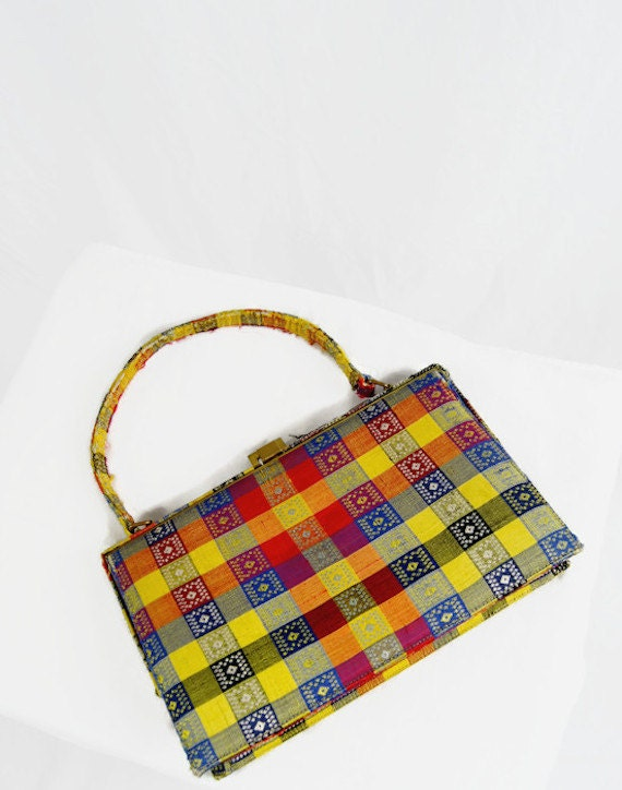 Vintage Nicholas Reich Purse Bag Handbag 1960s Top