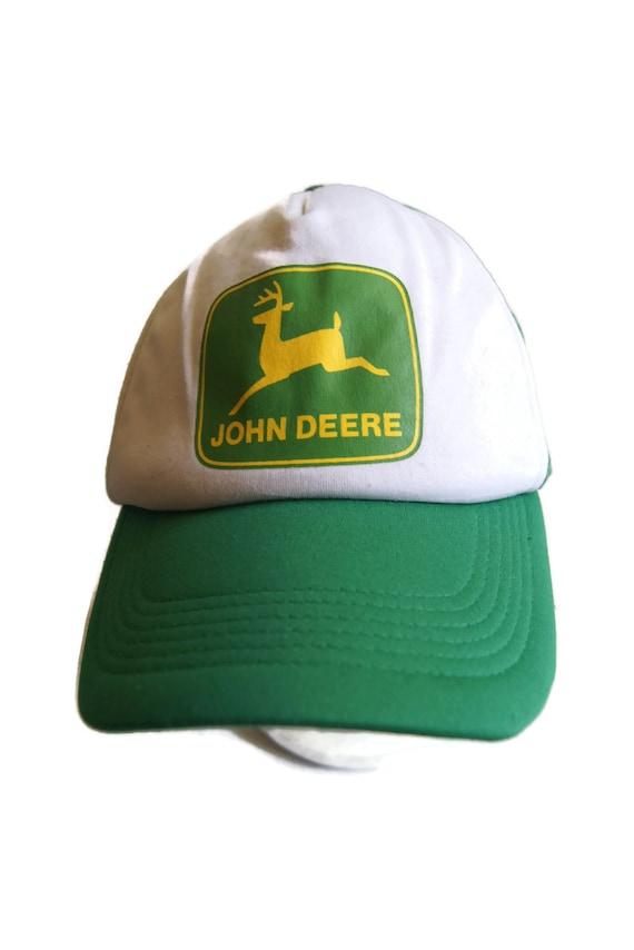 c50756d7e70 Vintage John Deere Trucker Hat Cap Mesh Back Foam Front Head