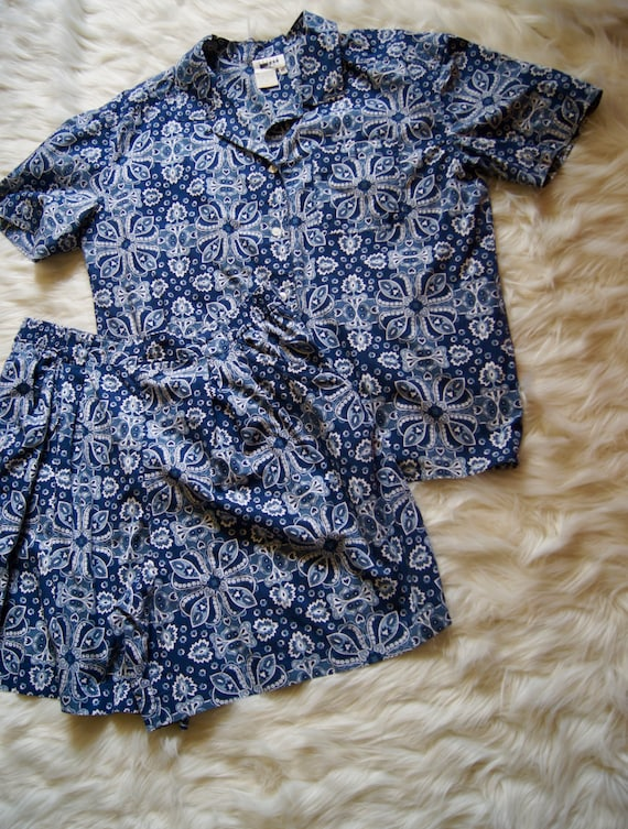 Vintage Leslie Fay Sport Button Front Shirt And Sh
