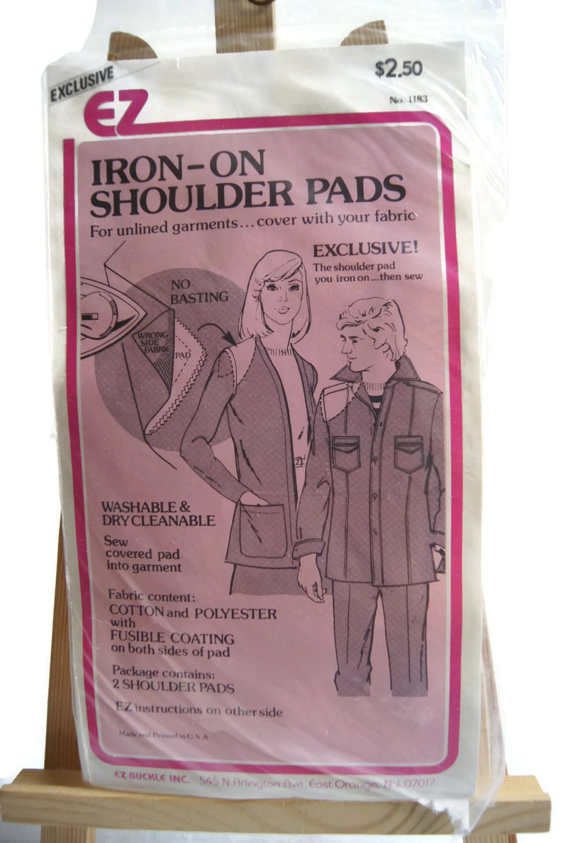 3d93d5dbb Vintage Exclusive EZ Iron-On Shoulder Pads For Unlined