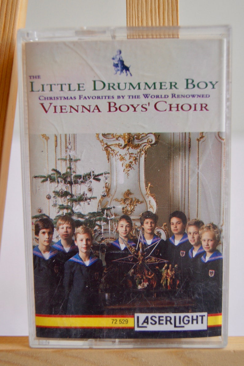 Vienna Boys Choir Christmas.Vintage 1995 The Little Drummer Boy Vienna Boys Choir Christmas Favorites Cassette Tape Laser Light Adeste Fideles Pueri Concinite