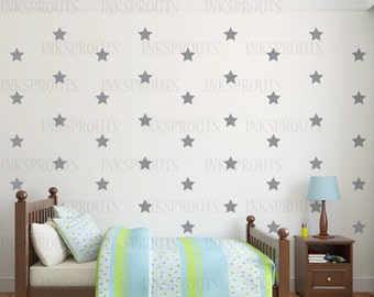 Star Decals, Choose your Size stars, star pattern, twinkle little star,  Modern nursery, shabby chic decal, Nursery decal, confetti