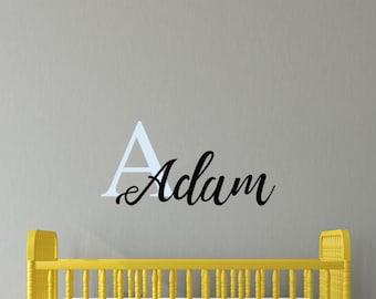 Custom Name Decal, Monogram Decal, Nursery name Decal, Monogram decal, Boho,  Modern Nursery, Nursery decals