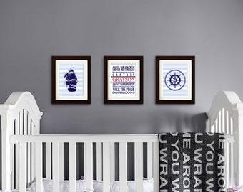 Pirate Print, Pirate phrases, Custom name Print, Boys Room Nursery Print, Nautical print, Under the Sea Print, Item  024
