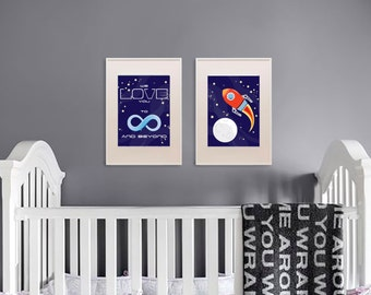 Rocket print, Space print, Space ship print, To infinity and beyond, Outspace print, Item 006