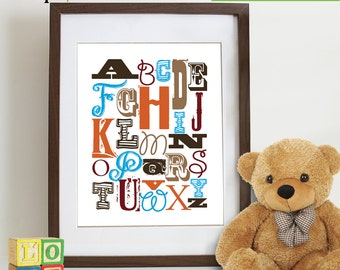 Cowboy Alphabet Nursery print, Cowboy, Cowboy theme, Cowboy Alphabet, Horse, Alphabet, Nursery Print, Boys room, Item 087