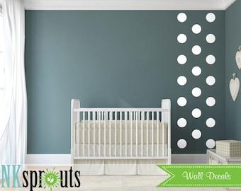 Medium Decal dots,Polkadots, Modern Nursery, Abstract decal design, Pattern design, Nursery decals, Baby Decals, Rain