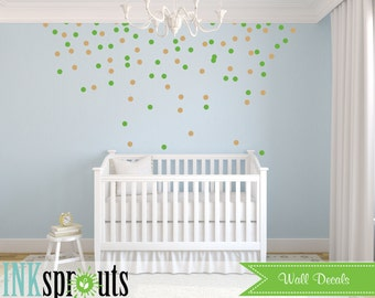 Party Confetti Decal dots,Polkadots, Modern Nursery, Abstract decal design, Pattern design, Nursery decals, Baby Decals, Rain