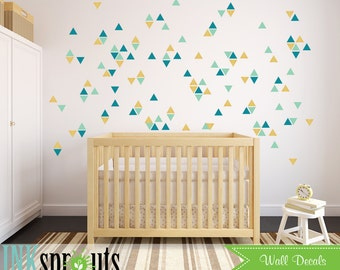 Triangle Wall Decal, Triangle pattern, Triangle Confetti, Polkadots, Modern Nursery, Abstract decal design, Pattern design, Nursery decals