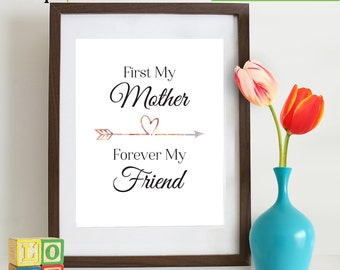 INSTANT DOWNLOAD - Mothers Day Printable, Last minute mothers day gift, Mom print, A Mothers love