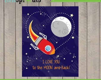 INSTANT DOWNLOAD, Rocket print set, Rocket download, Space, Moon and back, to infinity and beyond, Item 007D