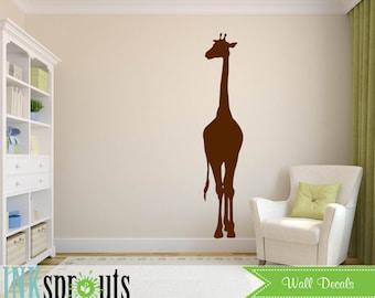 Giraffe Decal, Safari decal, Jungle decal, Play room, realistic giraffe, Classic, Simple, Modern Nursery, Nursery decals, Baby Decals,