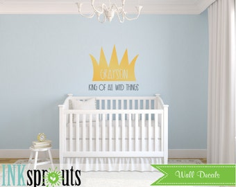 Wild things are Inspired Decal, Ill eat you up I love you so, Wild things quote, Modern Nursery, Nursery decals, Baby Decals,