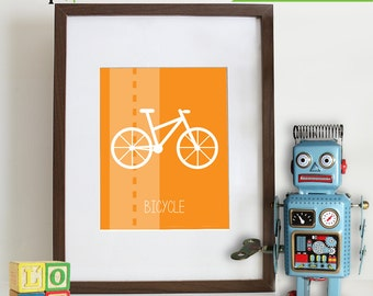 Transportation Prints, Bike Print, Motorcycle Print, BIcycle,  Item 009