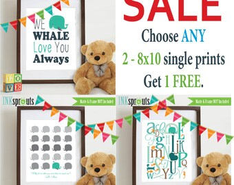 PRINT SALE- Choose any 2 8x10 single prints get 1 FREE, Free print, Create your own set, Nursery art, Nursery prints, Kids art