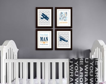 Airplane Print, Biplane, Aviation, Transportation print, Plane, Chevron, Alphabet, Skys the limit, Quote, boys room, Item 047