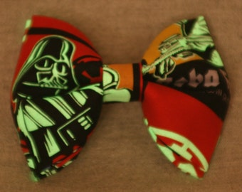Star Wars Glow-in-the-Dark Darth Vader Double Layer Clip-on Bowtie **FREE Domestic SHIPPING** within United States