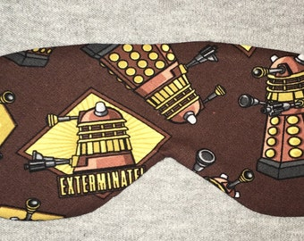 Doctor Who Dalek EXTERMINATE!  Sleep/Eye Mask **FREE Domestic SHIPPING**