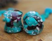 Turquoise Stone Plugs, Blue Gauges, Turquoise Gemstone Plugs, Garnet Gauges, Crystal Resin Plugs, Nature Gauges, Girly Plugs, Cute Plugs