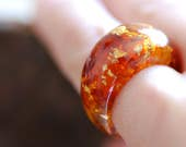 Baltic Amber Ring, Statement Gemstone Ring, Amber Crystal Ring, Stone Resin Ring, Stunning Elegant Ring, Amber Jewelry, Womens Gift for Her