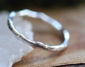 Silver Branch Ring, Nature Sterling Silver Ring, Twig Ring, Freeform Tree Branch Ring, Botanical Gift for Women