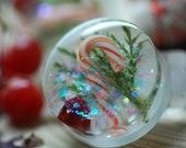 Christmas Ear Plugs, Holidays Ear Gauges, Festive Resin Plugs, Candy Cane, Christmas Earrings for Pierced ears, Winter gauges