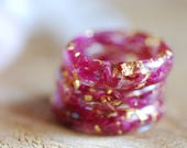 Flower Rings Pink Floral Ring Botanical Rings Nature Inspired Rings Pink Flower Resin Ring Delicate Ring Romantic Gifts for Women for Girl
