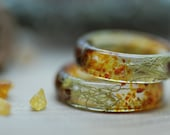 Baltic Amber Ring, Nature Resin Ring, Orange Gemstone Ring, Positive Healing, Amber Jewelry, Forest Men Ring, Men's Gift