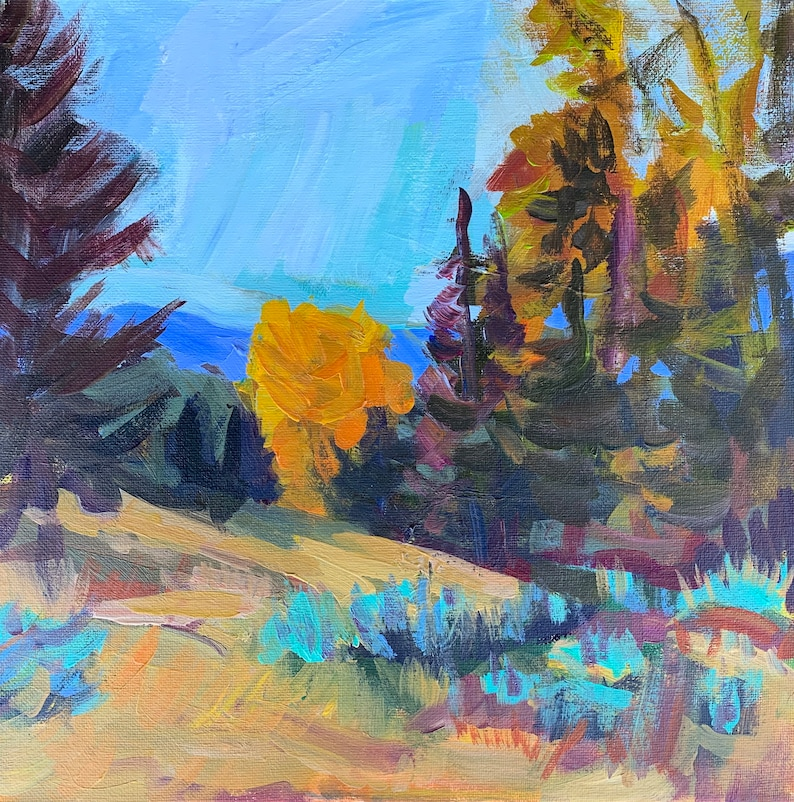 On Sale Original Art landscapes Contemporary acrylic painting by Tracy Haines Idaho Beauty