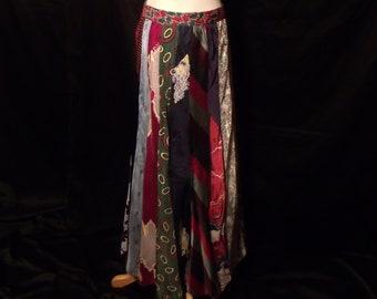 a53f6a6c0faace VTG 90sBoho Hippie handgemaakte stropdas Maxi rok MT S M   Vintage jaren  1990 veelkleurige voorzien mannen Tie rok maat Small Medium