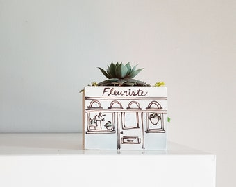 Small planter. Florist boutique vase for plants. Perfect cactus or succulent ceramic planter. Perfect cute gift!