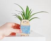 small otter ceramic planter. Small happy ceramic planter. Cactus lovers gift