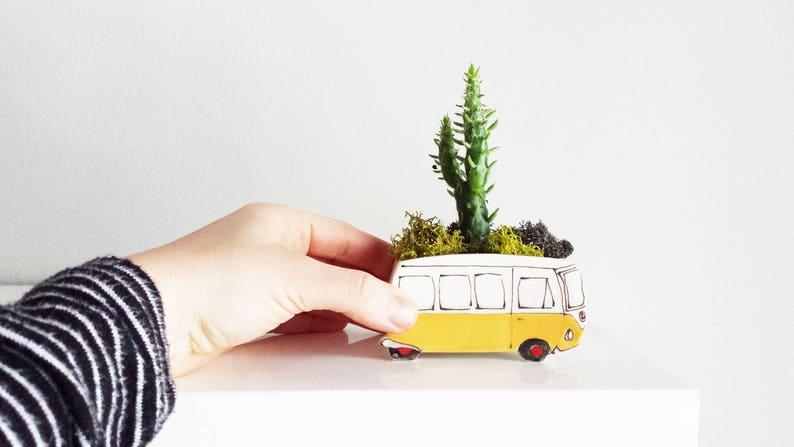 Westfalia planter. Small planter perfect for cactus or image 0