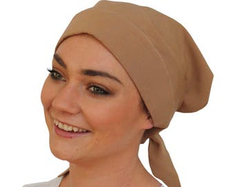 Women's Head Scarf, Cancer Headwear, Chemo Hat, Alopecia Head Wrap, Head Cover, Hair Loss Gift, Cancer Gift, Chemo Gift, Khaki