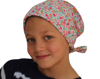 Chemo Hat For Girls With Hair Loss, Flannel Hat, Childhood Cancer, Cancer Gifts