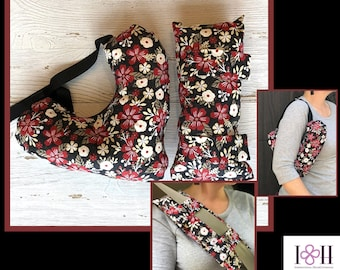 Mastectomy Pillow With Matching Seatbelt Pillow, Post Mastectomy, Breast Cancer Gifts