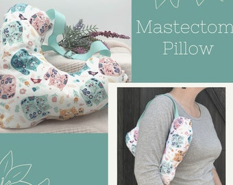 Lumpectomy Pillow, Mastectomy Pillow, Post Mastectomy, Get Well Soon Gift, Calico Cats
