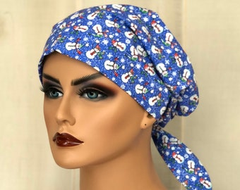 Christmas Scrub Cap, For Women, Holiday Scrub Hat, Pediatric Nurse Gift,