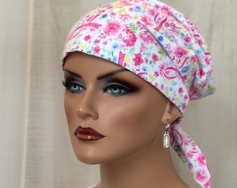 Scrub Caps For Women, Oncology Nurse Gift,  Breast Cancer Awareness
