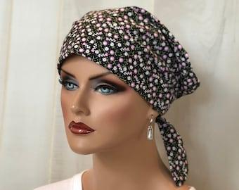 Scrub Caps For Women, Nurse Gift, Scrub Hats, Petite Pink Flowers