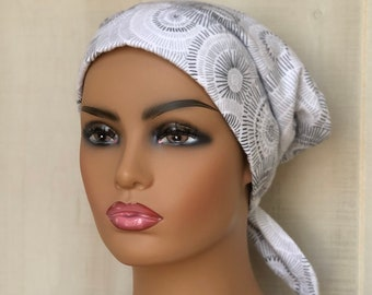 Flannel Hat For Women With Hair Loss, Cancer Gifts, Chemo Head Wrap
