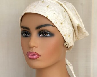 Christmas Scrub Cap, For Women, Gold Scrub Hat, Nurse Gift,