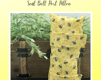 Seatbelt Pillow, Get Well Soon, Chemo Gift, Honey Bees