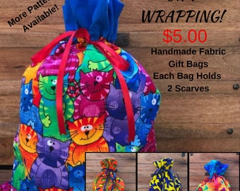 Gift Wrapping Available.  Handmade Fabric Reusable Bags, Birthday, Christmas, Breast Cancer, Unicorns, Animal Prints, Mermaids, Penguins